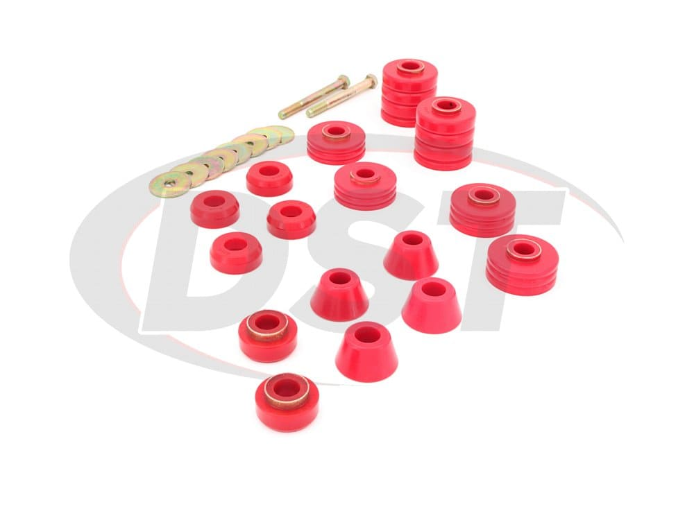 3.4140 Body Mount Bushings and Radiator Support Bushings - 75-79 Crew Cab