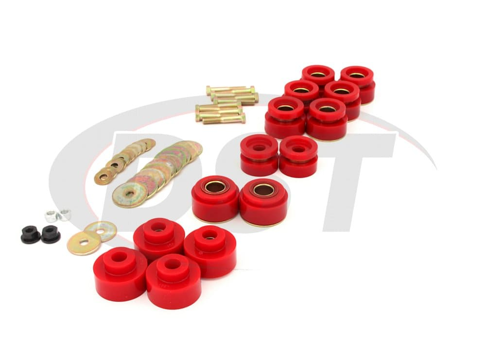 3.4170 Body Mount Bushings Kit and Hardware - Hardtop