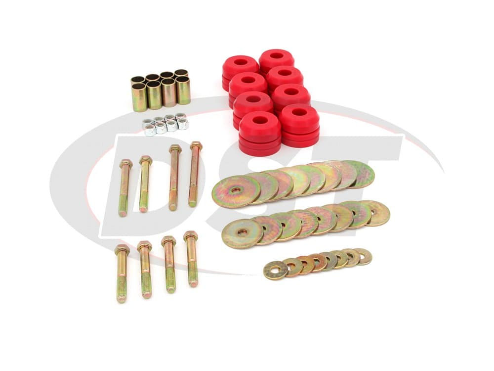 4.4110 Body Mount Bushings Kit and Mounting Hardware