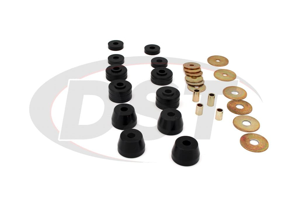 Energy Suspension Body Mount Set 5.4101G; Black Polyurethane for Dodge D//W Truck