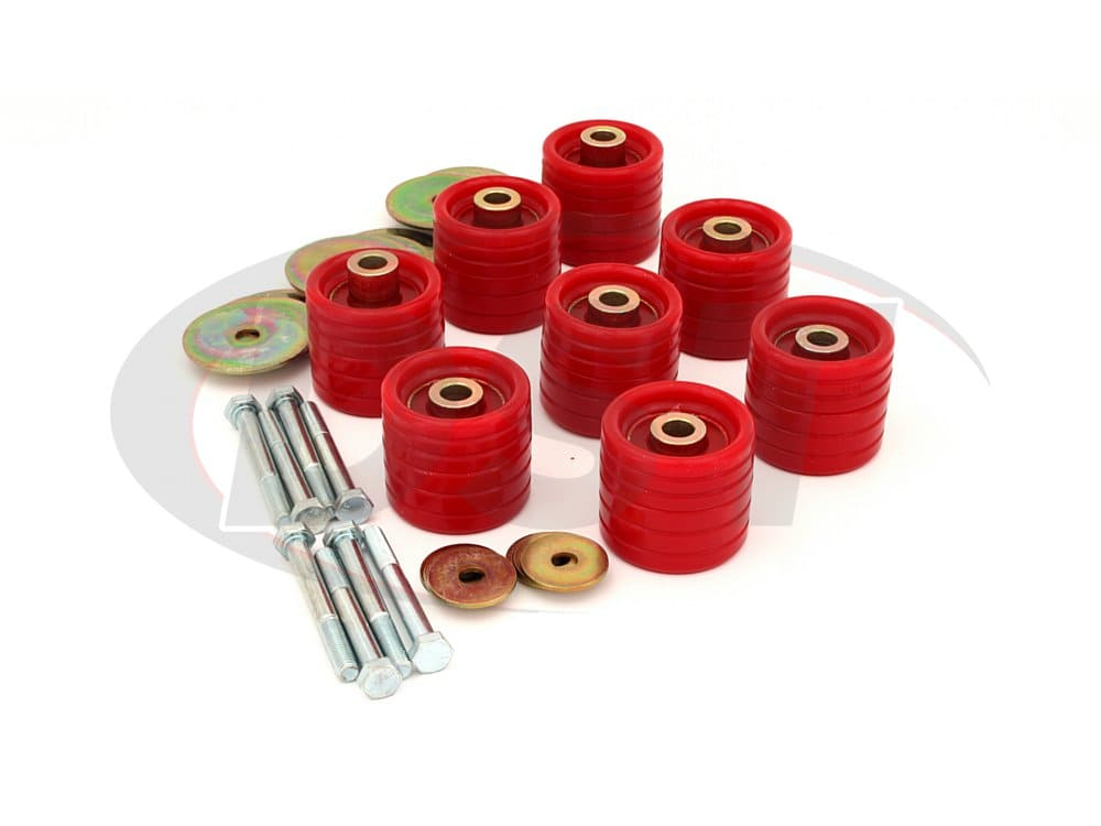 5.4112 Body Mount Bushings Kit and Hardware - Extended Cab