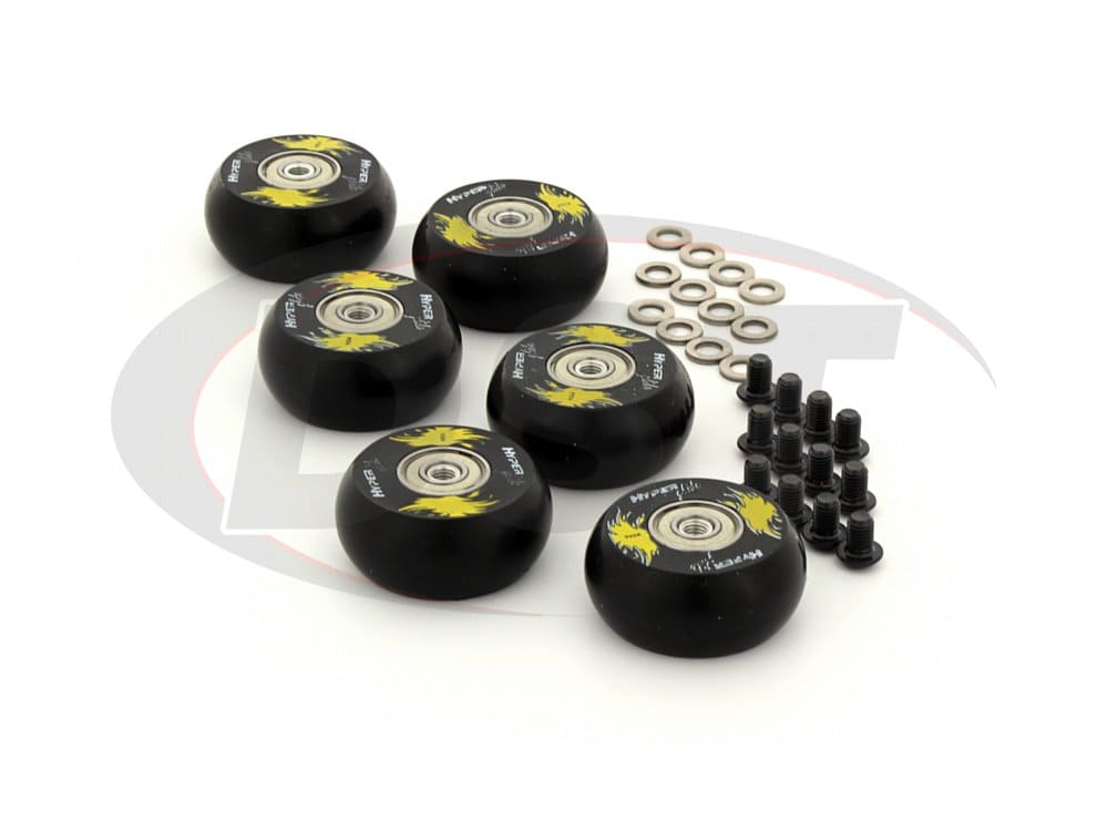 9.9170 Hyperglide Creeper Wheels - 2 inch / 50mm Wheel - 6 Pack