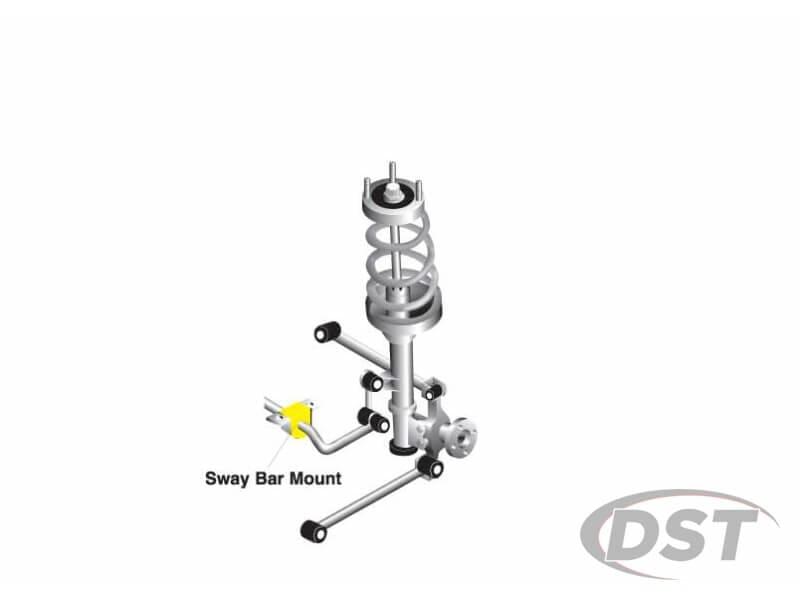 kbr18-24 Rear Sway Bar Brace Brackets and Bushings - 24mm (0.94 inch)