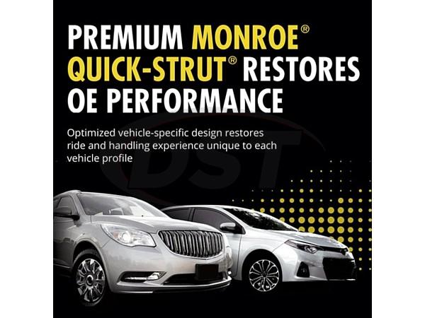 monroe-172322l Front Driver Side Suspension Strut and Coil Spring Assembly - Monroe Quick-Strut