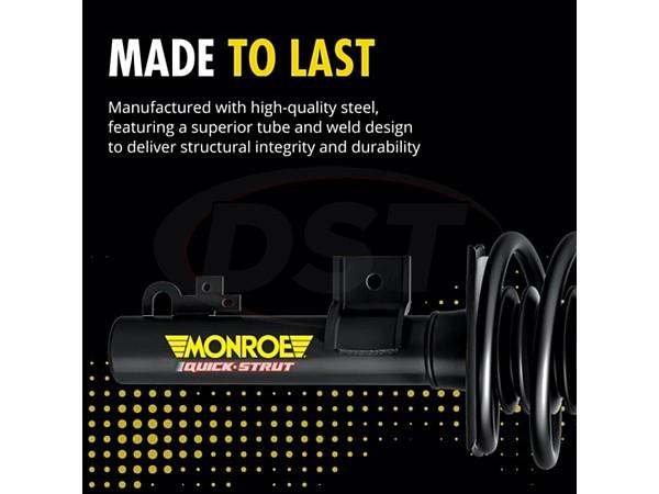 monroe-172322r Front Passenger Side Suspension Strut and Coil Spring Assembly - Monroe Quick-Strut