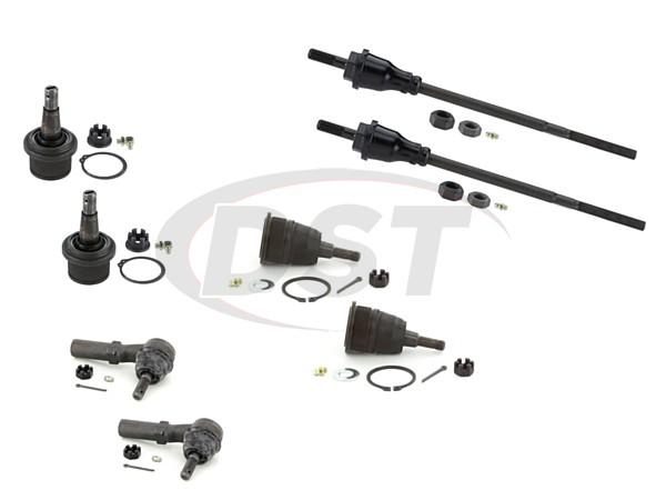 gmc-savana-2500-2006-moog-front-end-rebuild-kit Front End Steering Rebuild Package Kit - 8600LB GVW