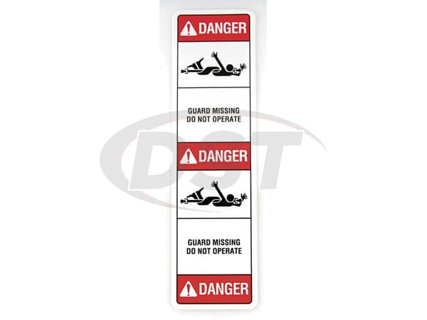 MOOG-2095 Safety Label
