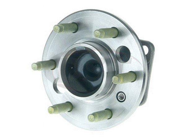 moog-512309 Rear Wheel Bearing and Hub Assembly - 4 Hole Rectangular Flange