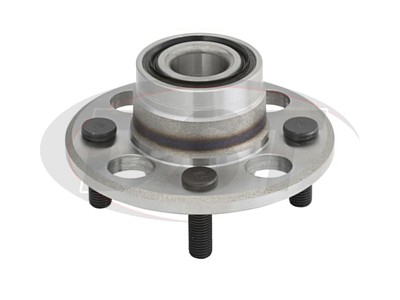Rear Wheel Bearing and Hub Assembly - Non ABS - Rear Drum Brakes