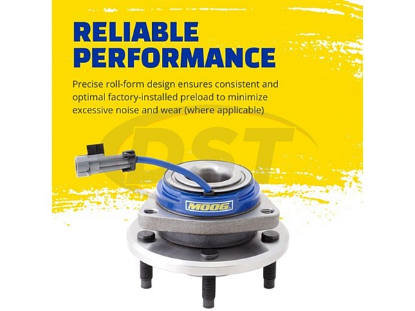 MOOG-513229 Front Wheel Bearing and Hub Assembly
