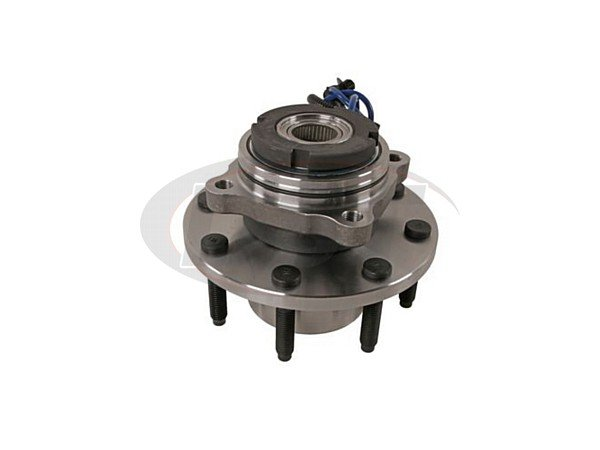 Front Wheel Bearing and Hub Assembly - 4 Wheel ABS - Single Rear Wheel - 13mm Thick Flange