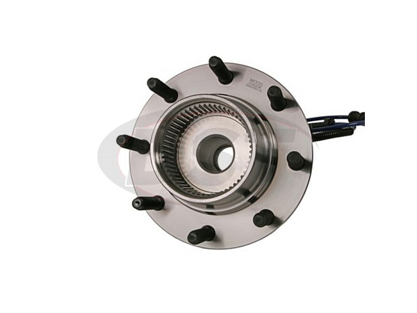 MOOG-515020 Front Wheel Bearing and Hub Assembly - 4 Wheel ABS - Single Rear Wheel - 13mm Thick Flange