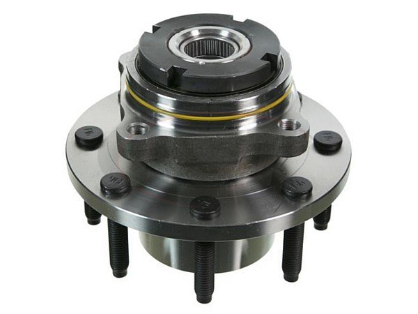 Front Wheel Bearing and Hub Assembly - 2 Wheel ABS - Single Rear Wheel - 13mm Thick Flange