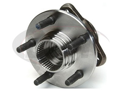 Front Wheel Bearing and Hub Assembly - With 2 Wheel Anti Lock Brakes