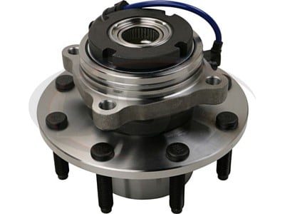 Front Wheel Bearing and Hub Assembly - 4 Wheel ABS - Single Rear Wheel - 10mm Thick Flange
