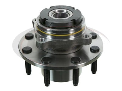 Front Wheel Bearing and Hub Assembly - 2 Wheel ABS - Single Rear Wheel - 10mm Thick Flange