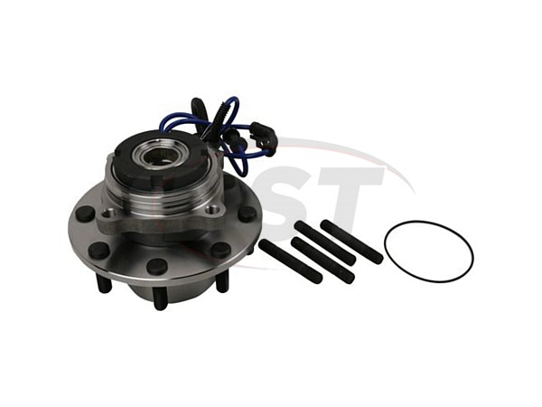 Front Wheel Bearing and Hub Assembly - 4 Wheel ABS - Dual Rear Wheel - 10mm Thick Flange