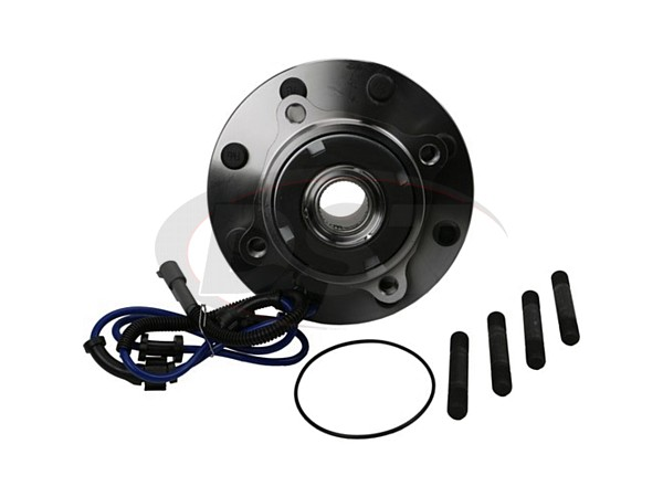 moog-515077 Front Wheel Bearing and Hub Assembly - 4 Wheel ABS - Dual Rear Wheel - 10mm Thick Flange