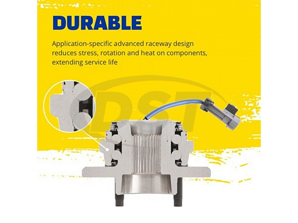 moog-515144 Front Wheel Bearing and Hub Assembly - Dual Rear Wheel