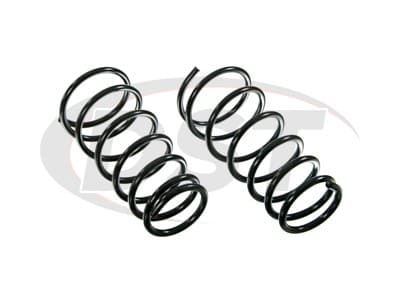 Moog Front Coil Springs and Struts for Armada, Pathfinder Armada, Titan