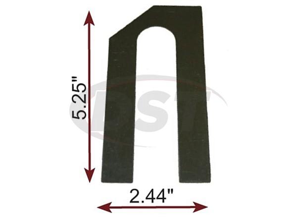 MOOG-K100081 Thrust Line/Bogey Shim 1/16 Inch