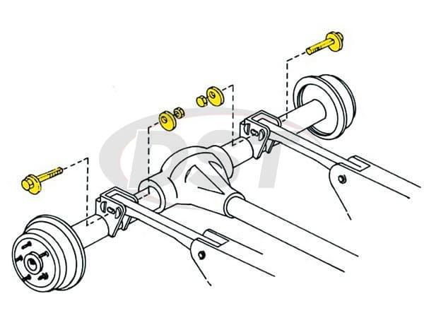 MOOG-K100109 Alignment Cam Bolt Kit