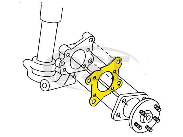 MOOG-K6624 Rear Camber Shims
