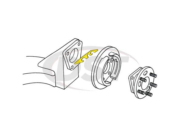 Moog-K6660-4 Rear Camber Toe Shim
