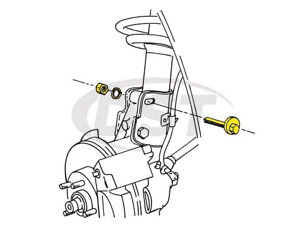 MOOG-K7120 Front Macpherson Strut Lower Mounting Kit