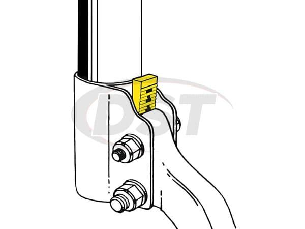 MOOG-K80059 Front Lower Strut Mount Camber Wedge Kit - 1 1/2 degrees of adjustment