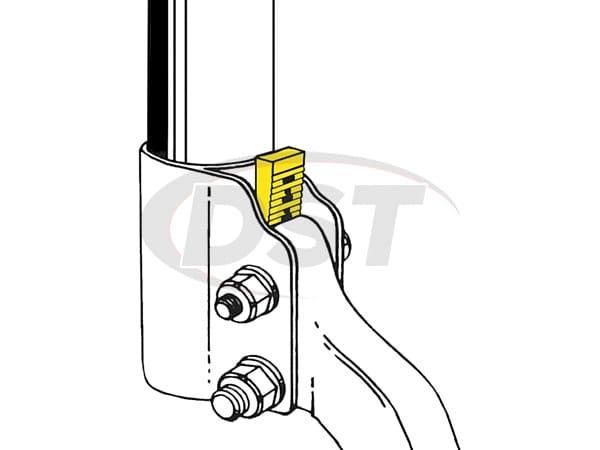 MOOG-K8877 Rear Camber Adjusting Wedge Kit
