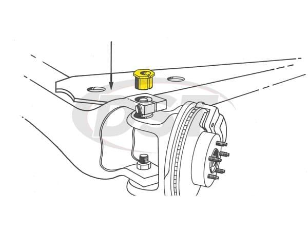 MOOG-K8970 Front Caster Camber Bushing - alignment change 0 deg.