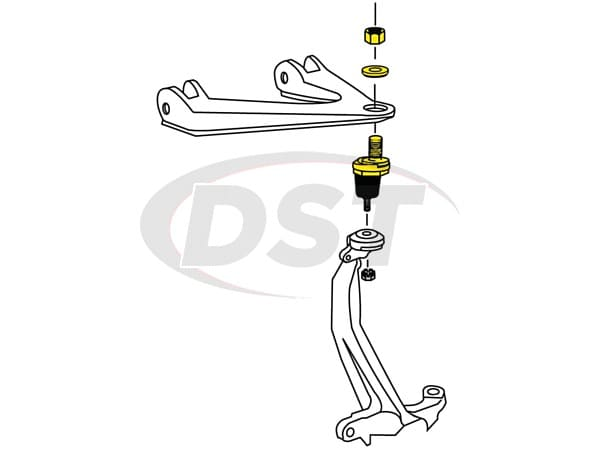 honda accord front upper ball joint