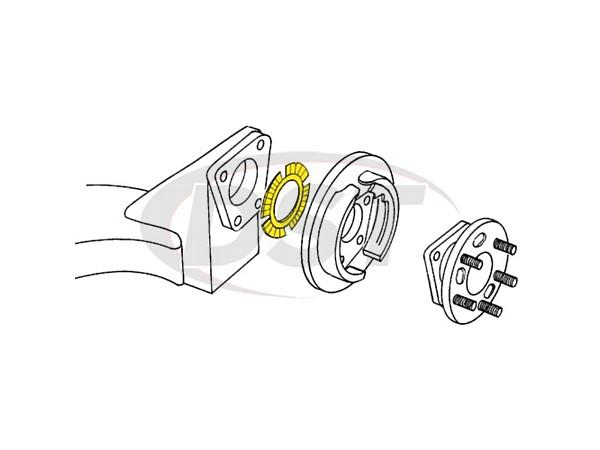 moog-k994-3 Rear Camber Toe Shim - 0.75 degree