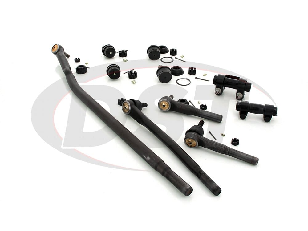 moog-packagedeal081 Front End Steering Rebuild Package Kit - Twin I Beam Axle