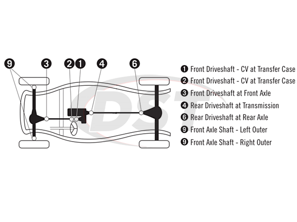 Moog Ujoint Packagedeal1136 on 1999 Chevy Silverado Parts Diagram