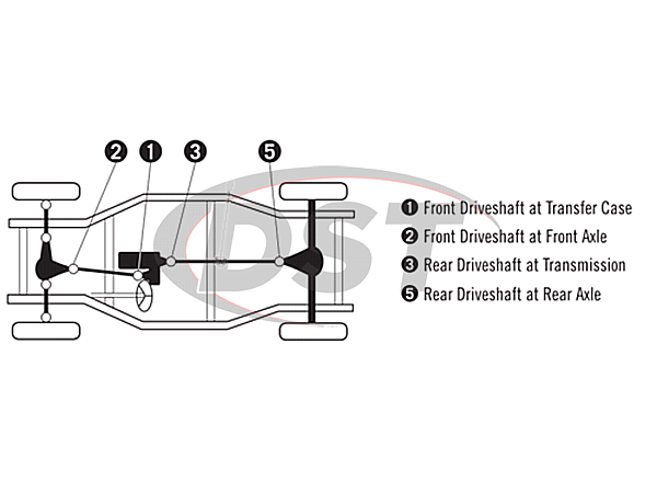 moog-ujoint-packagedeal1154 U Joint Package - Lincoln Navigator 4WD 98-06