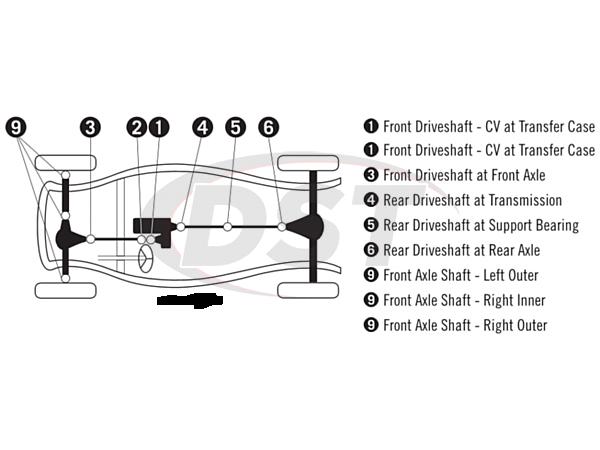 moog-ujoint-packagedeal1156 U Joint Package - Mazda Navajo 4WD 91-92