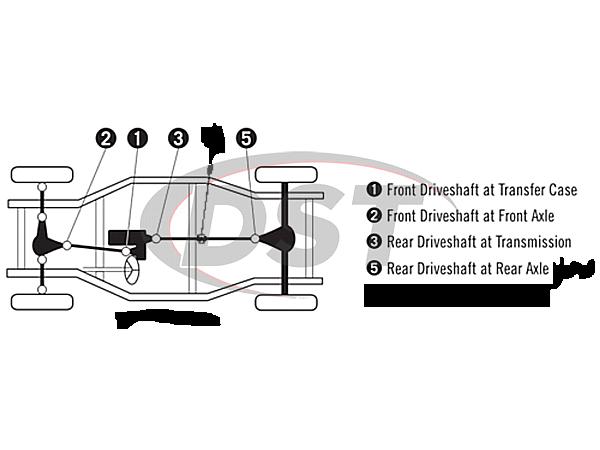 moog-ujoint-packagedeal1165 U Joint Package - Nissan Pathfinder 4WD 09-10