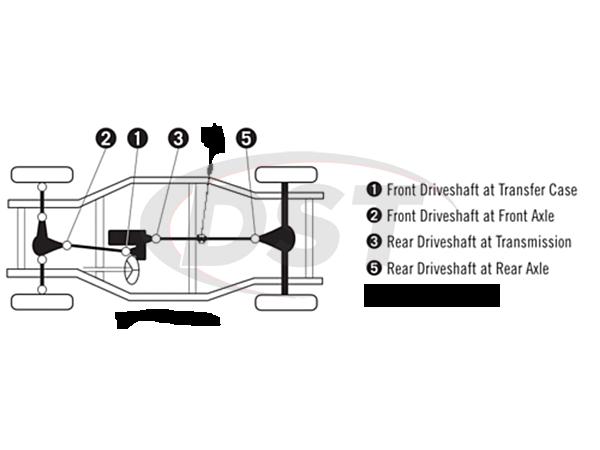 moog-ujoint-packagedeal1167 U Joint Package - Nissan Pathfinder 4WD 90-04 Except '04 Pathfinder Armada