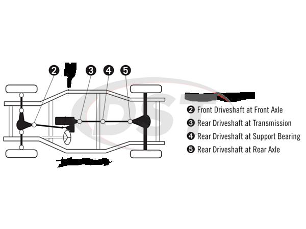 moog-ujoint-packagedeal146 U Joint Package - Dodge Durango 4WD 04-09