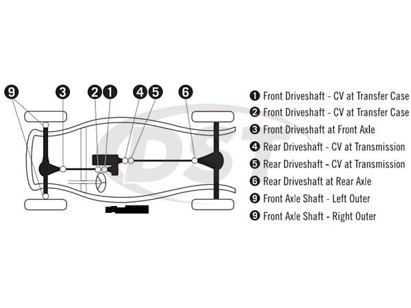moog-ujoint-packagedeal434 U Joint Package - Ford Bronco 4WD 66-69