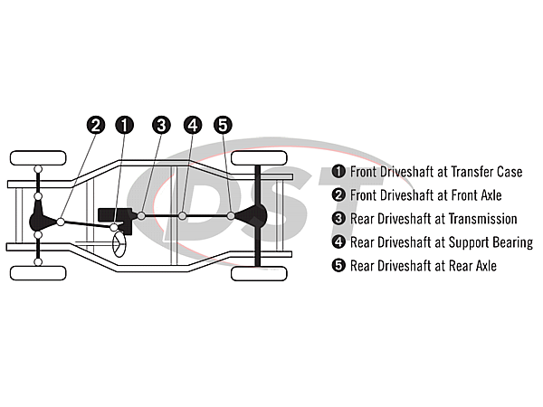 moog-ujoint-packagedeal586 U Joint Package - Chevrolet Silverado 1500 4WD 99-01