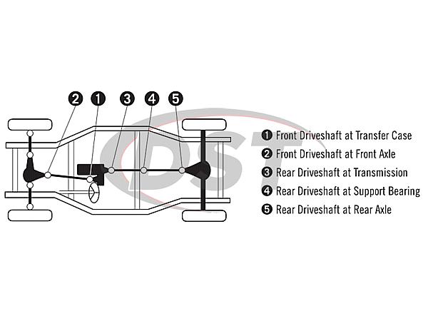 moog-ujoint-packagedeal596 U Joint Package - Chevrolet K1500 4WD 88-91