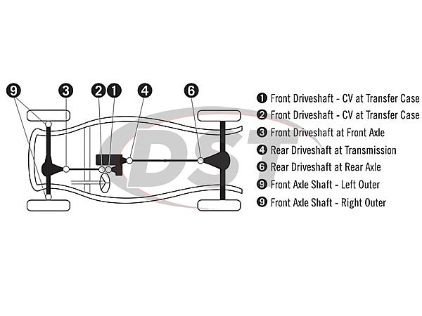 moog-ujoint-packagedeal610 U Joint Package - Chevrolet Suburban R2500 4WD 88-91