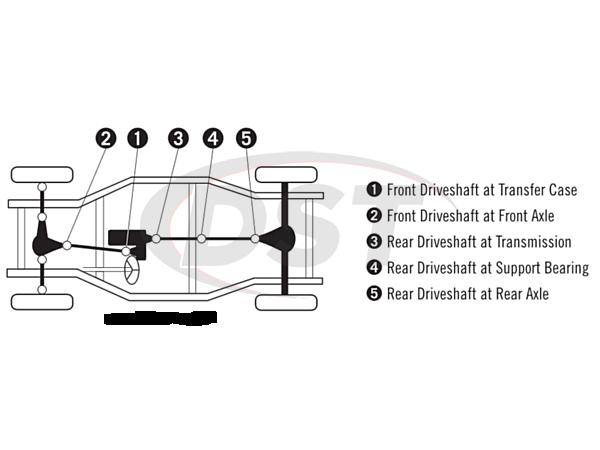 moog-ujoint-packagedeal632 U Joint Package - Chevrolet Silverado 3500 4WD 01-03