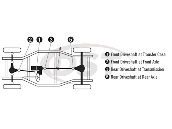 moog-ujoint-packagedeal753 U Joint Package - Toyota 4Runner 4WD 96-11
