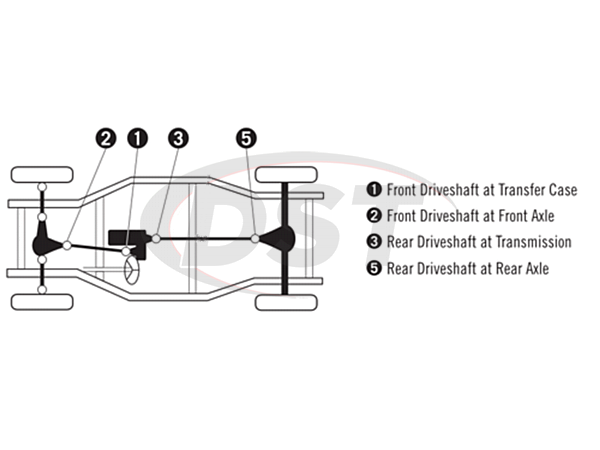 moog-ujoint-packagedeal755 U Joint Package - Toyota FJ Cruiser 4WD 07-11