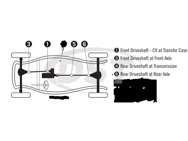 moog-ujoint-packagedeal759 U Joint Package - Toyota Landcruiser 4WD 65-73
