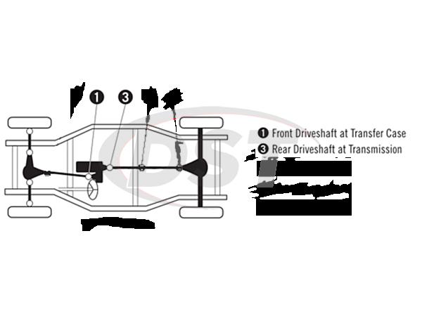 moog-ujoint-packagedeal761 U Joint Package - Toyota Van 4WD 84-85
